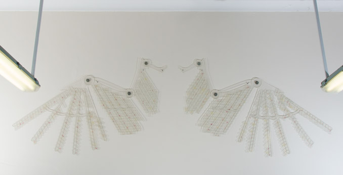 Photograph of Icarus' wings made by Nina Liebenberg